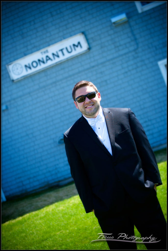 Groom at nonantum resort wedding - photography in Maine by Focus