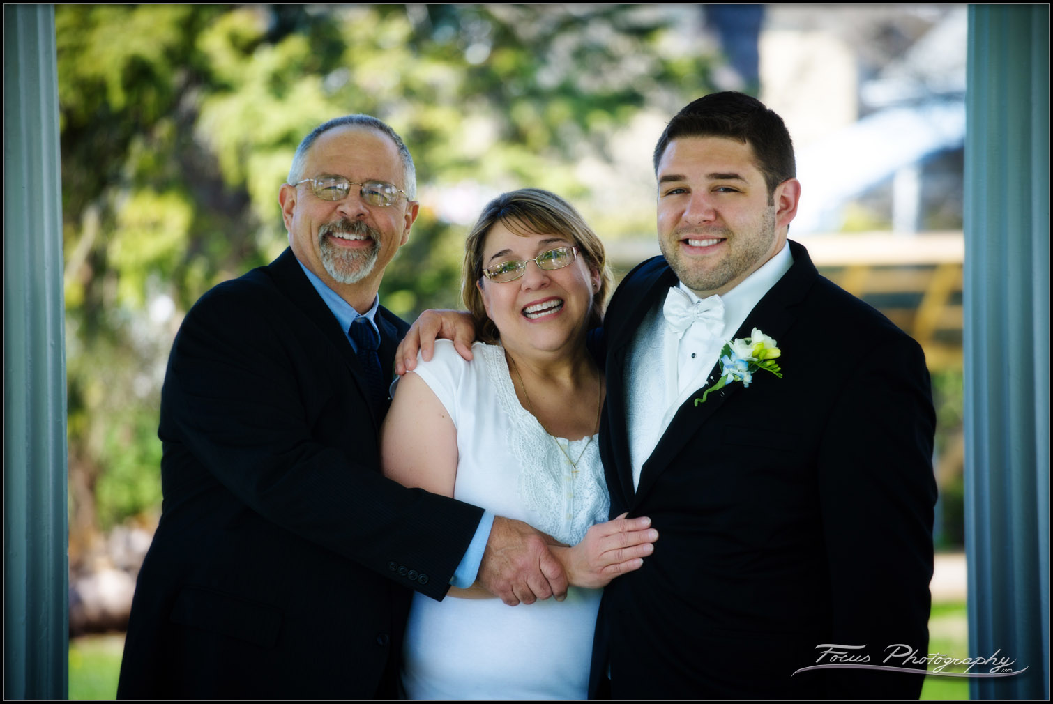 groom and family at Maine wedding - photographer Focus Photography