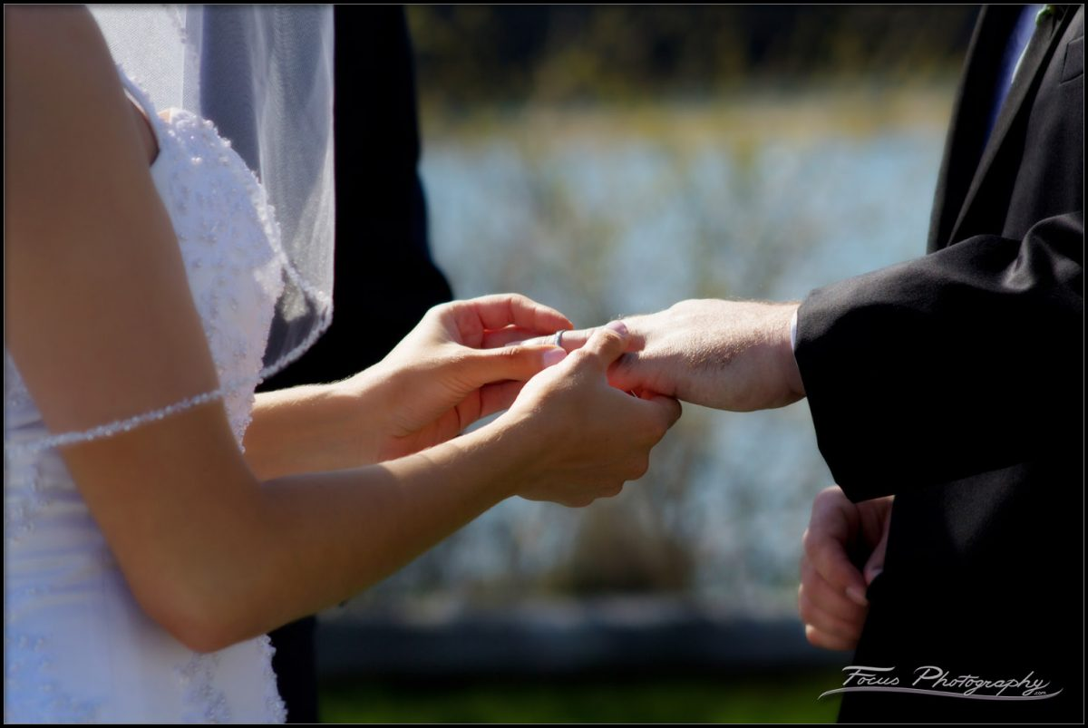 ring exchange at Kennebunkport wedding