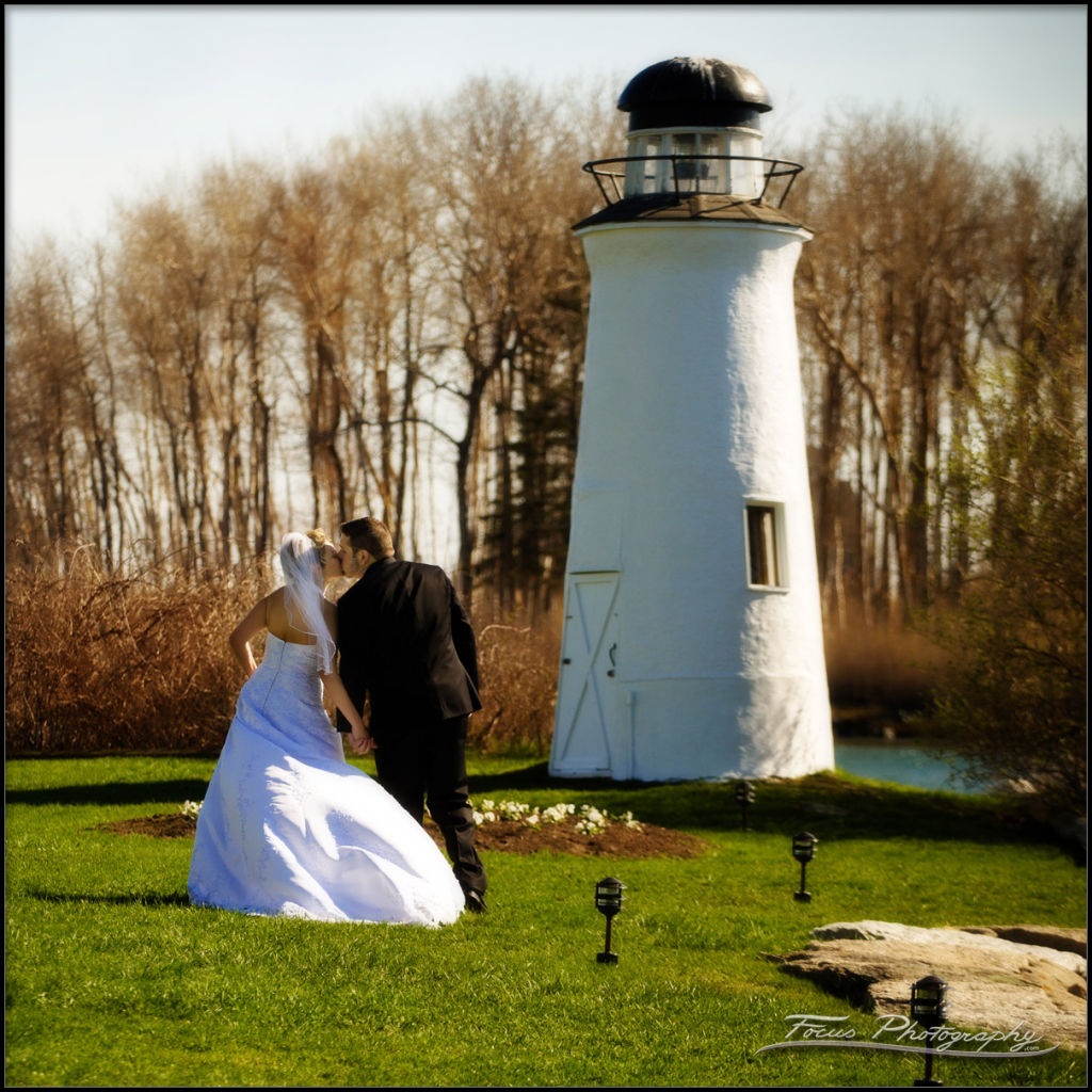 Lighthouse at Nonantum by maine wedding photographers Focus Photography