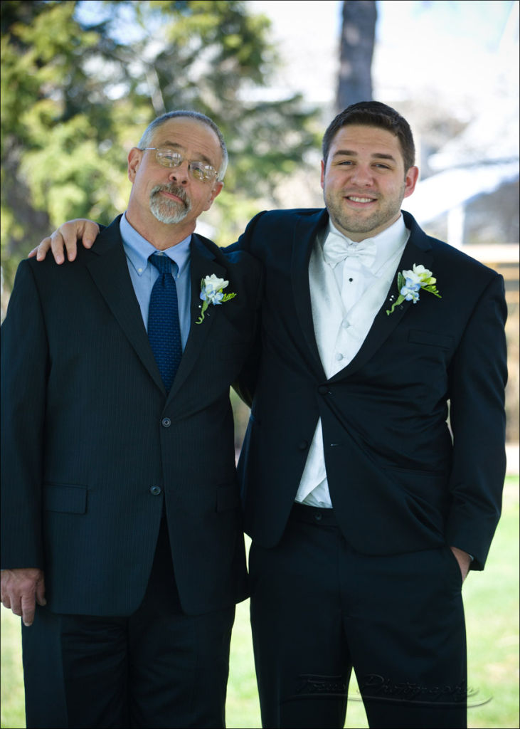 The groom and his father at Maine wedding at Nonantum Resort