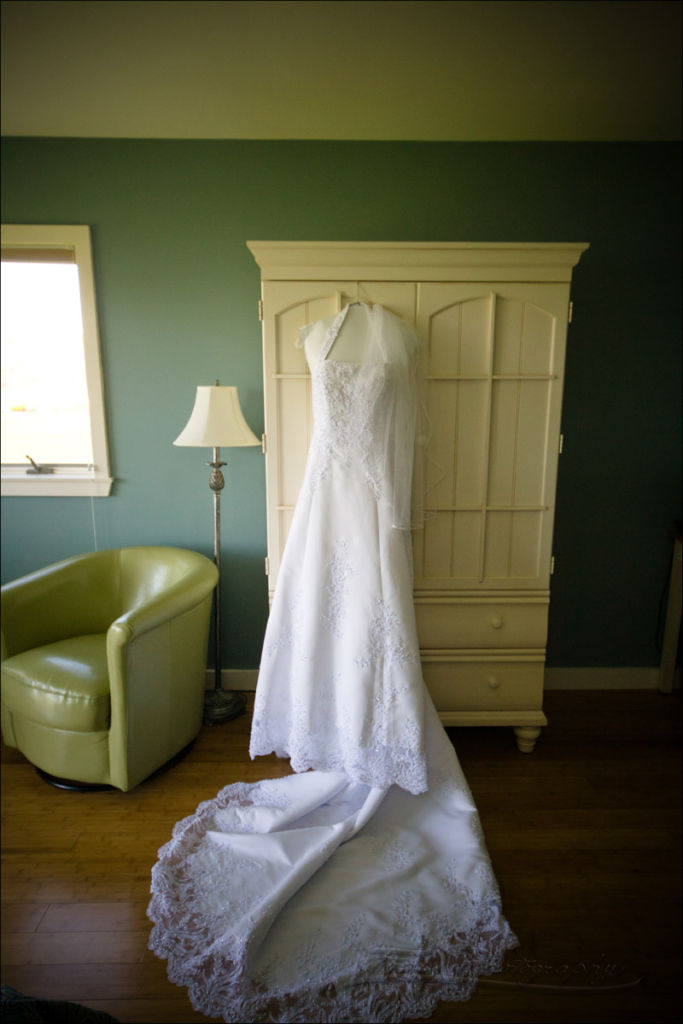 wedding dress at Nonantum Resort