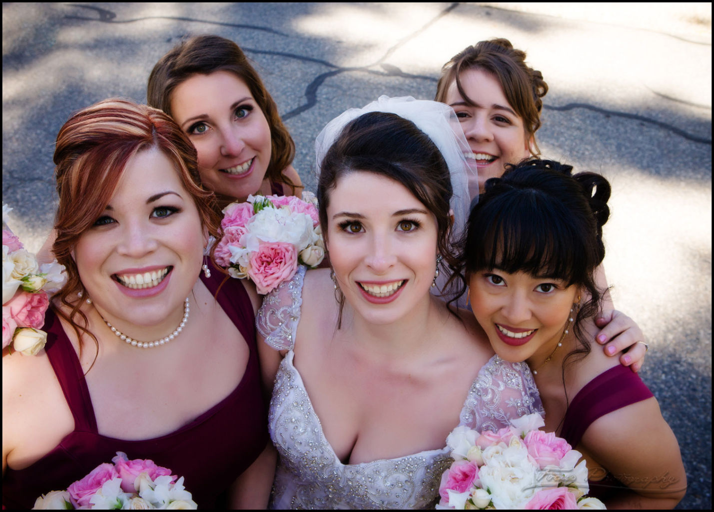 the bride and bridesmaids in north shore wedding photography