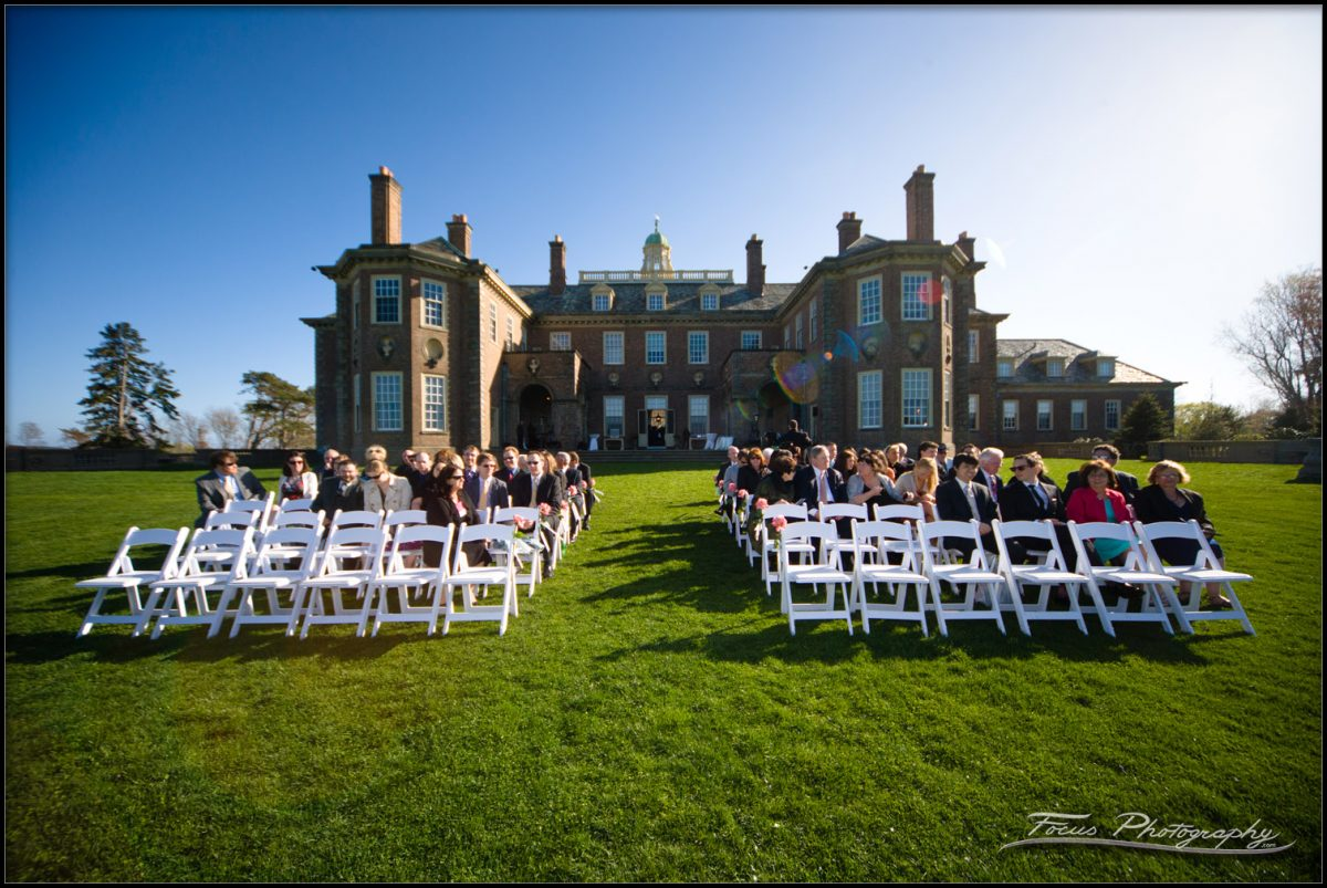 wedding ceremony at grand allee at crane estate wedding