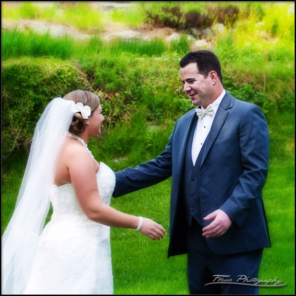 bride and groom during wedding photography in new hampshire
