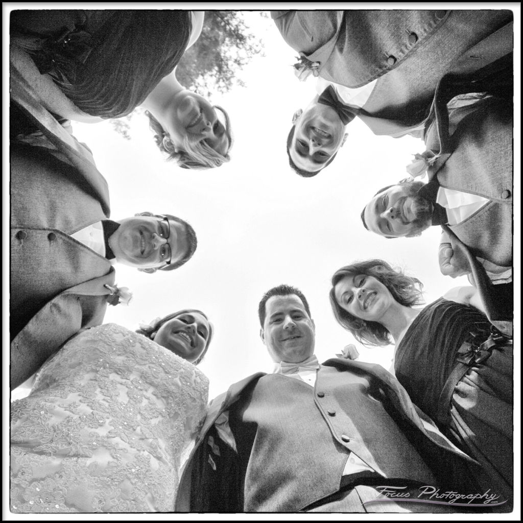 New Hampshire wedding photography of bridal party
