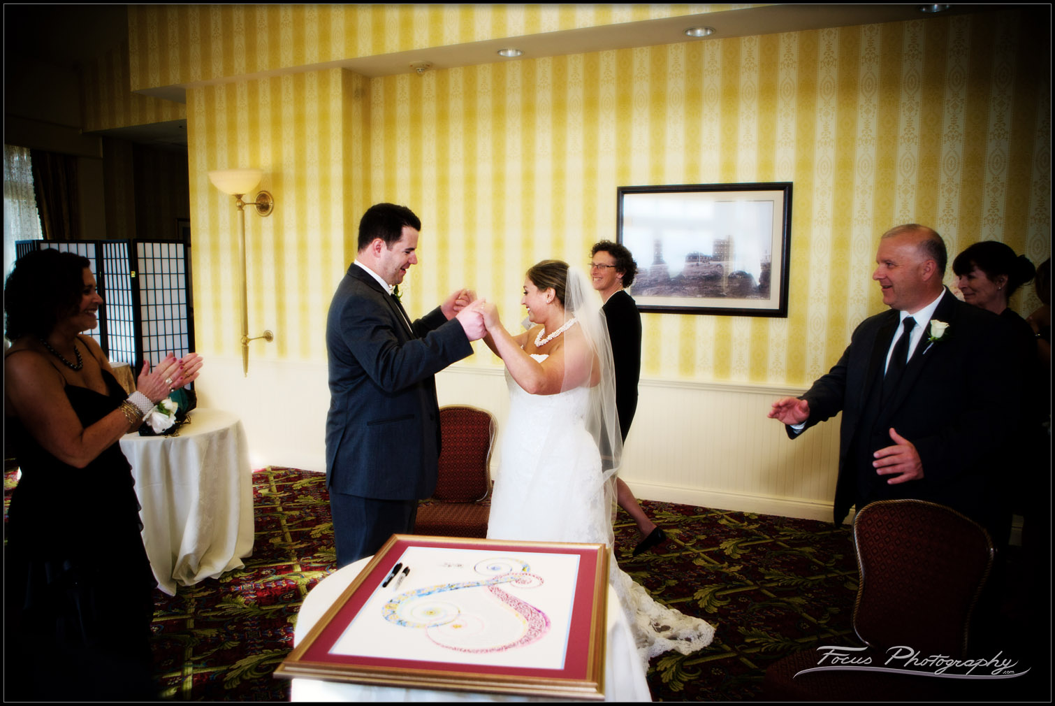 Ketubah signing at Wentworth by the sea