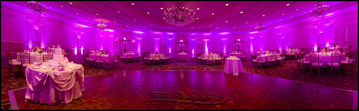 the Wentworth Ballroom at the Newcastle, New Hampshire Wentworth by the Sea. Wedding Photographers Focus Photography