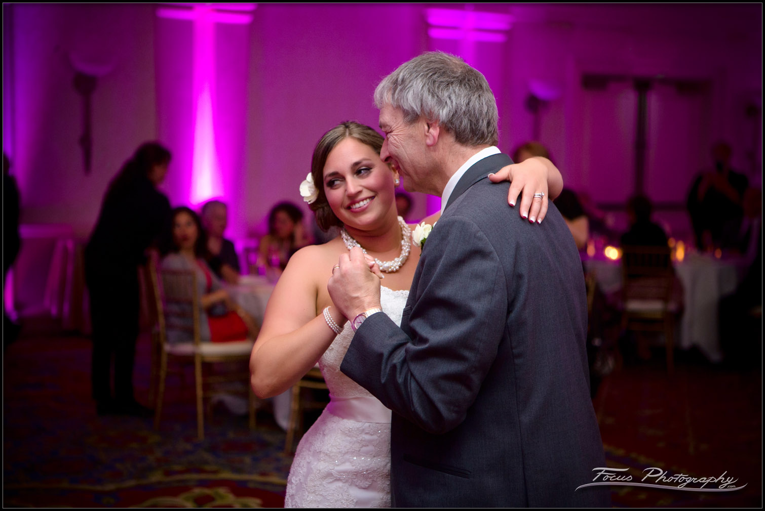 Bride enjoys her dance with dad