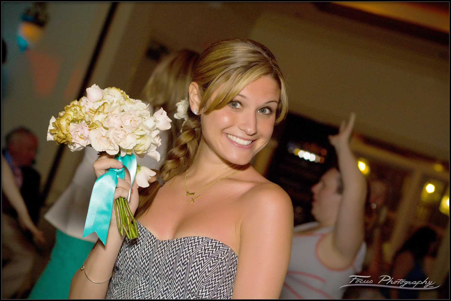 The girl who catches the bride's bouquet is traditionally considered to be next to get married