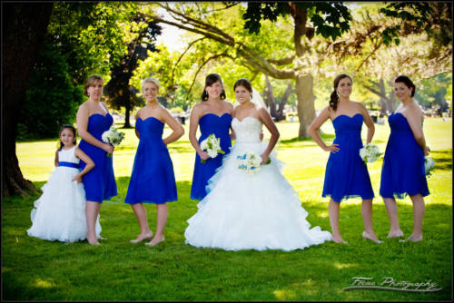 Bridal party formal - Maine wedding photography of Kaitlin and John