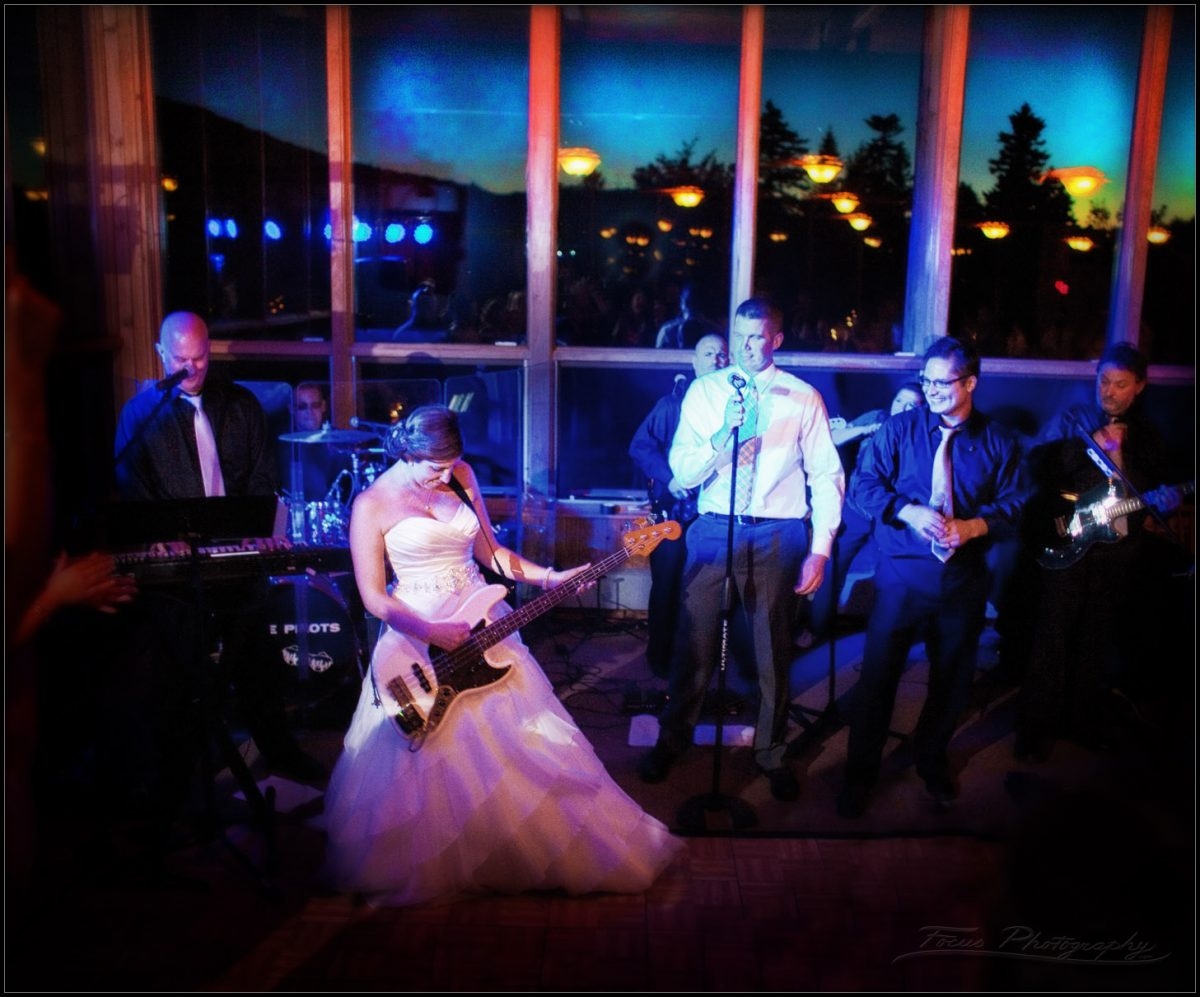 Colleen and Dan Rock Out to the Time Pilots at Sunday River wedding in Newry, Maine