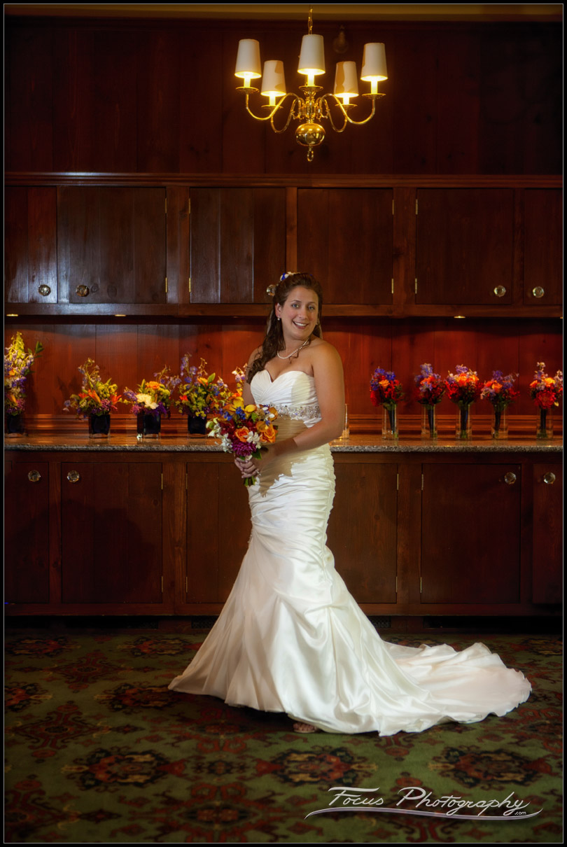 Colony Hotel Wedding bride in ballroom
