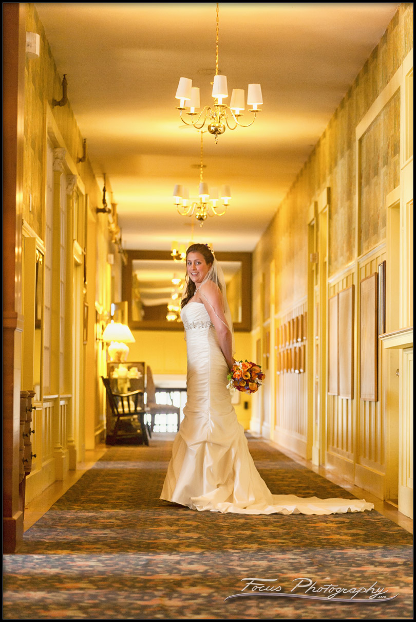 Colony Hotel Wedding bride in hall