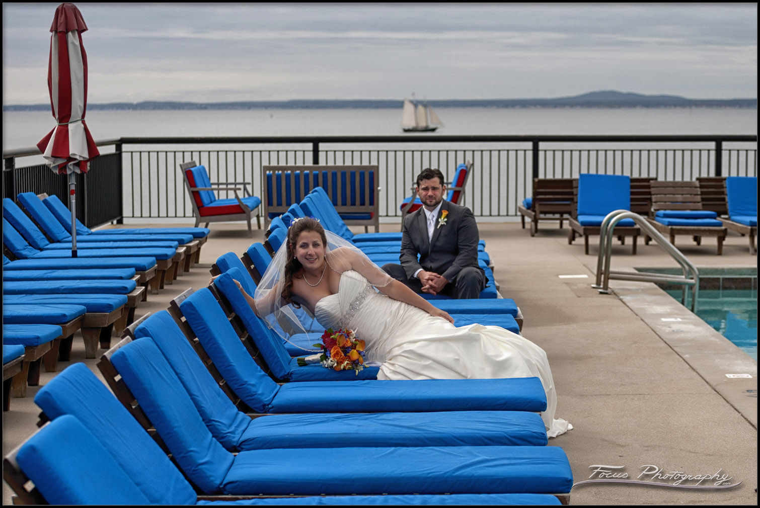 Wedding photography at Colony Hotel in Maine
