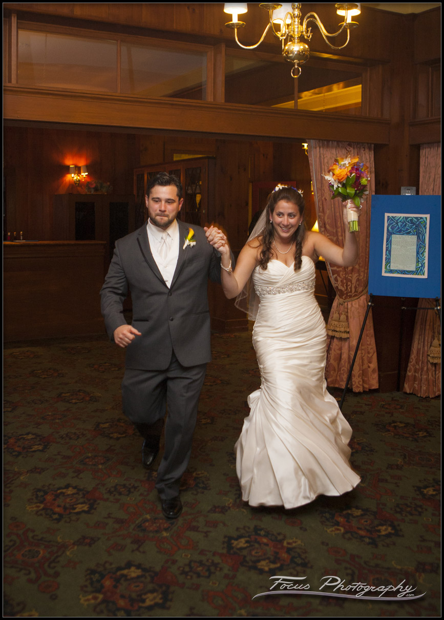 bride and groom entrance into ballroom