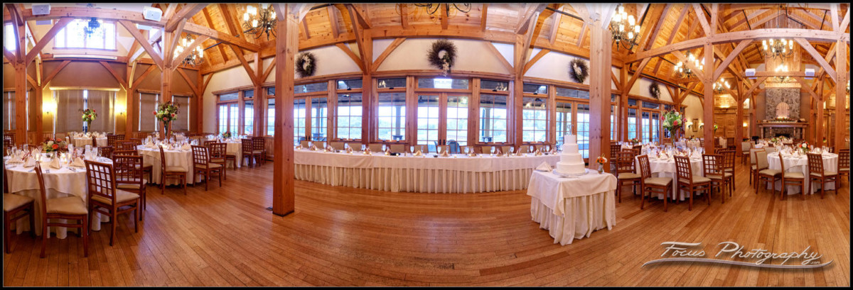 Ballroom Panorama of Red Barn at Outlook Farm
