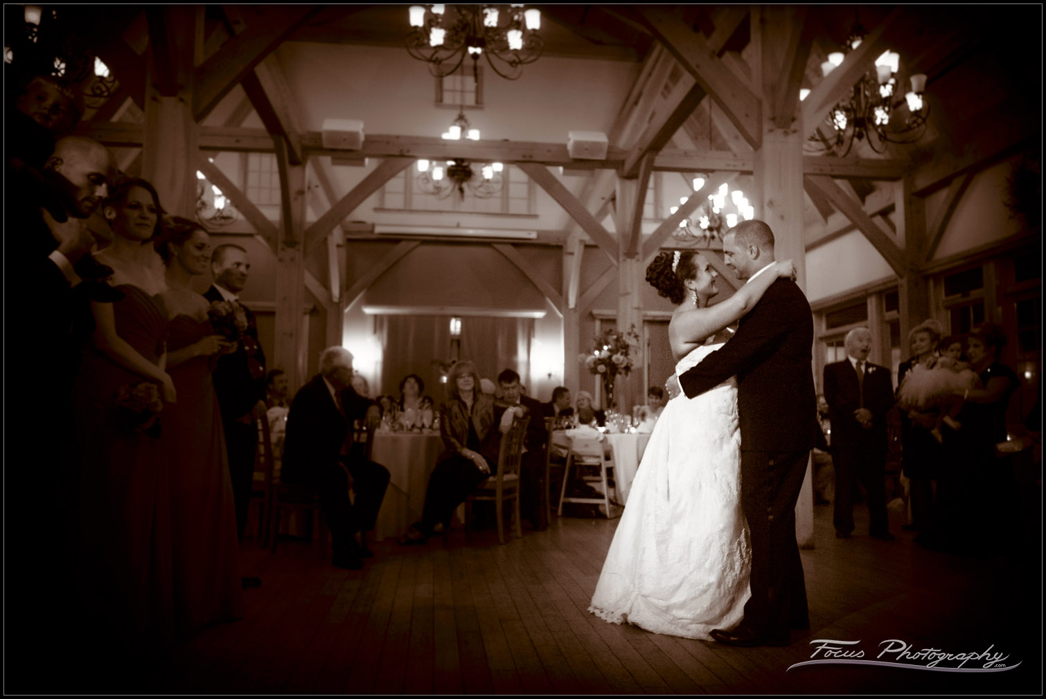 first dance at Red Barn wedding at outlook Farm