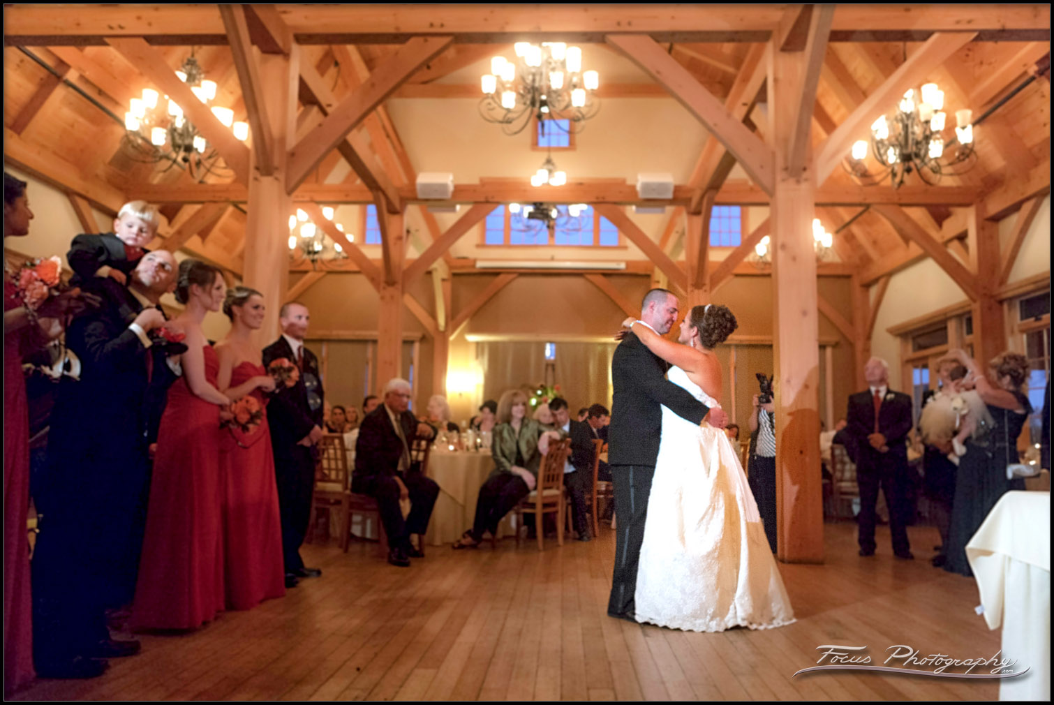 wedding celebration photography at Red Barn at outlook Farm