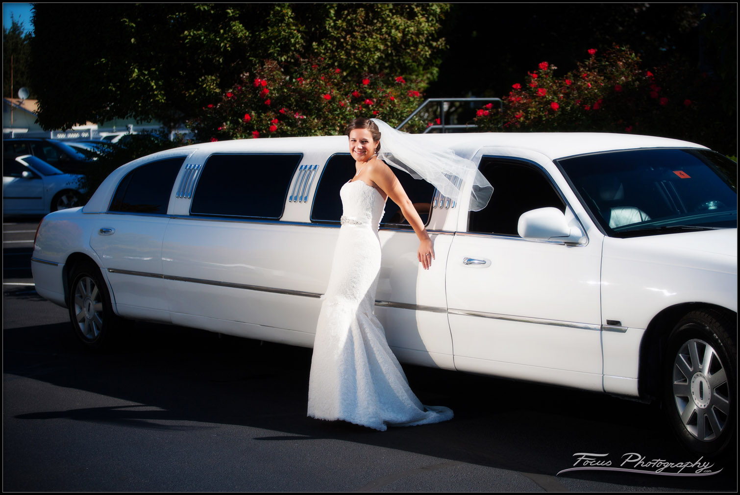 bride on limo at wentworth