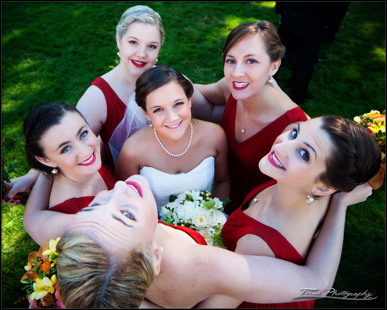 bridal party at wentworth by sea