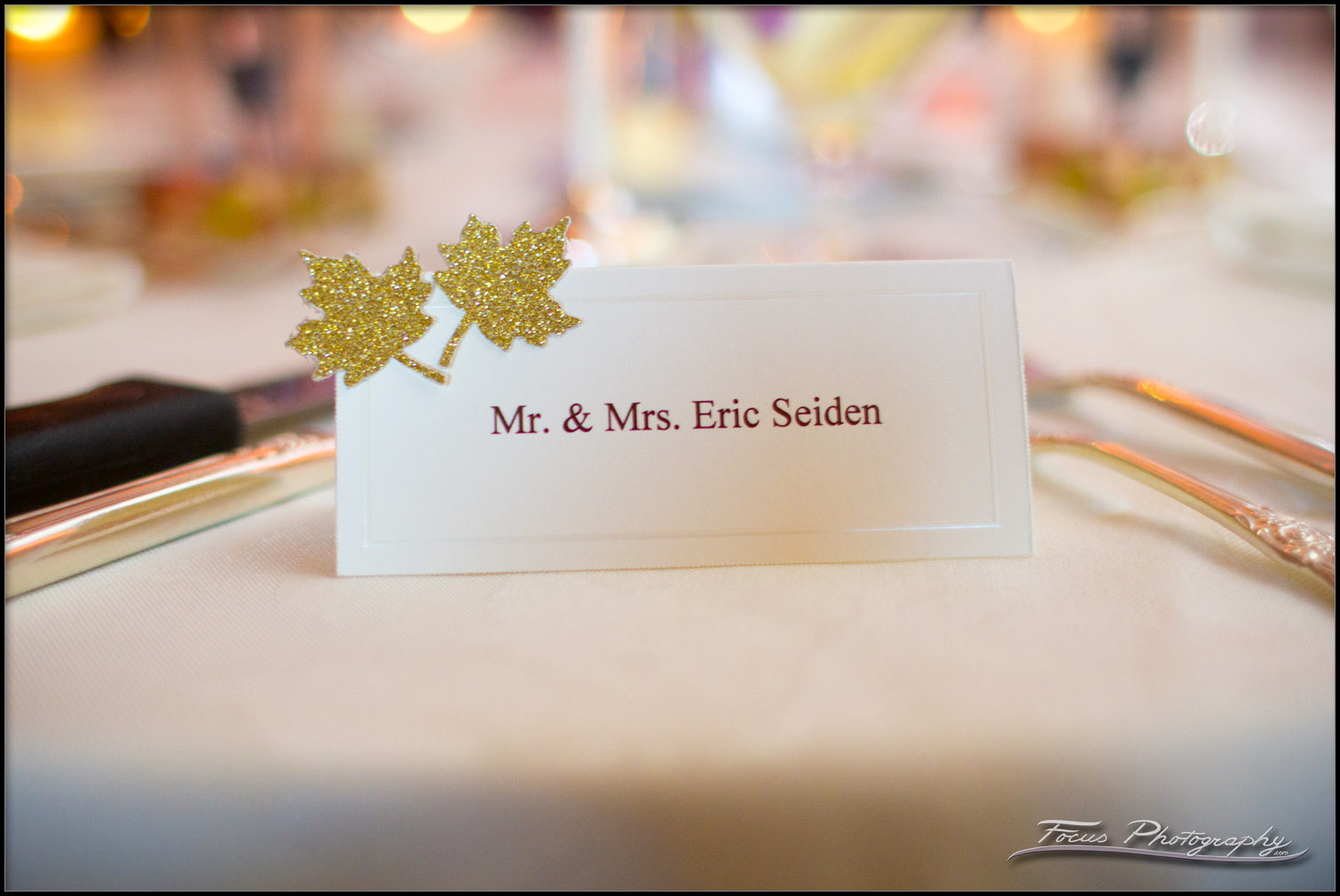 Wedding placecards at Wentworth by the Sea