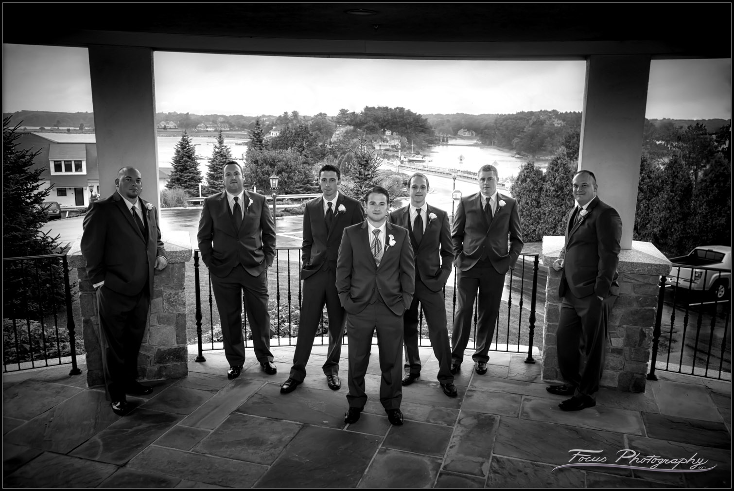 groomsmen at Wentworth by the Sea