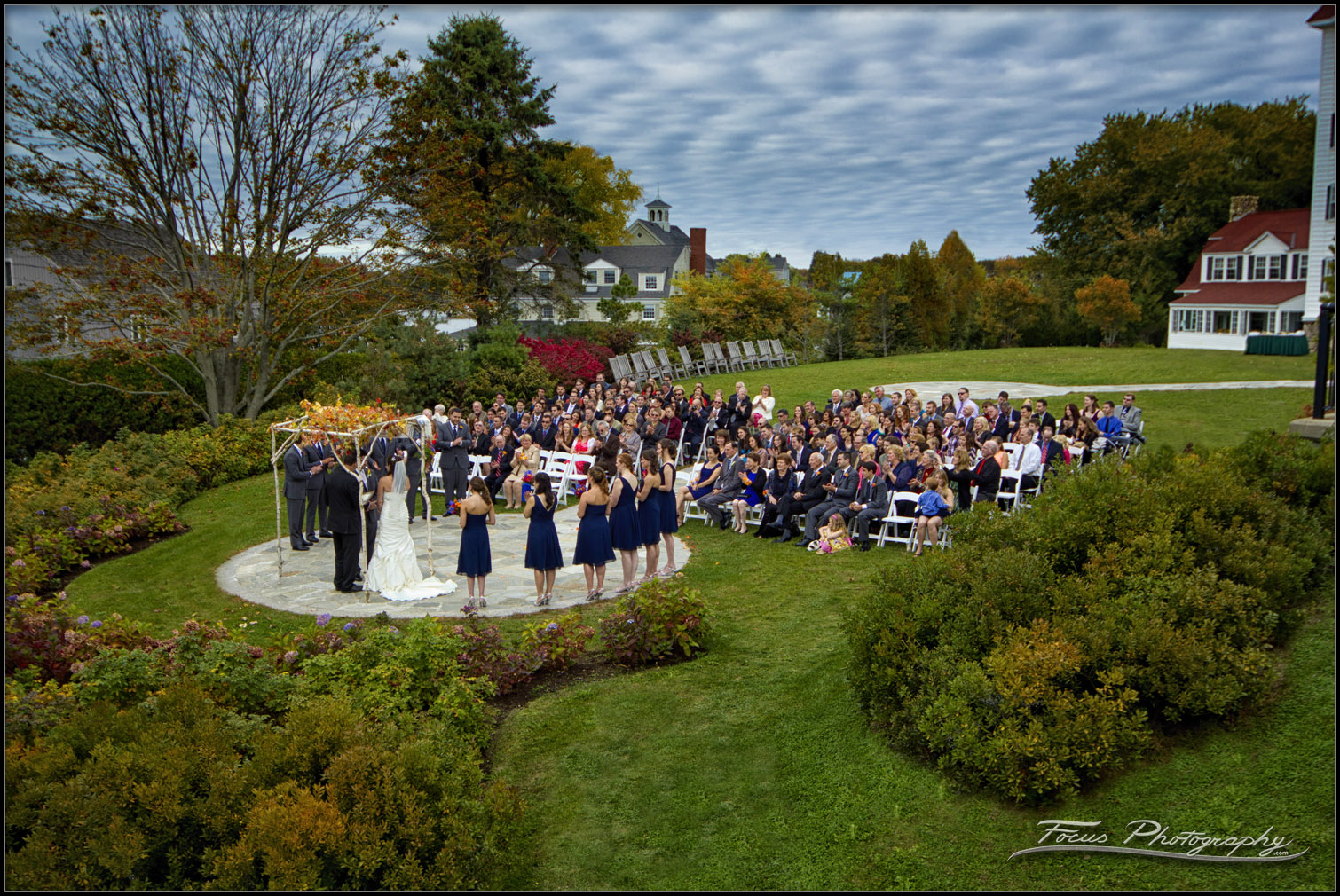 Colony Hotel Wedding Photography of ceremony in Kennebunkport, Maine