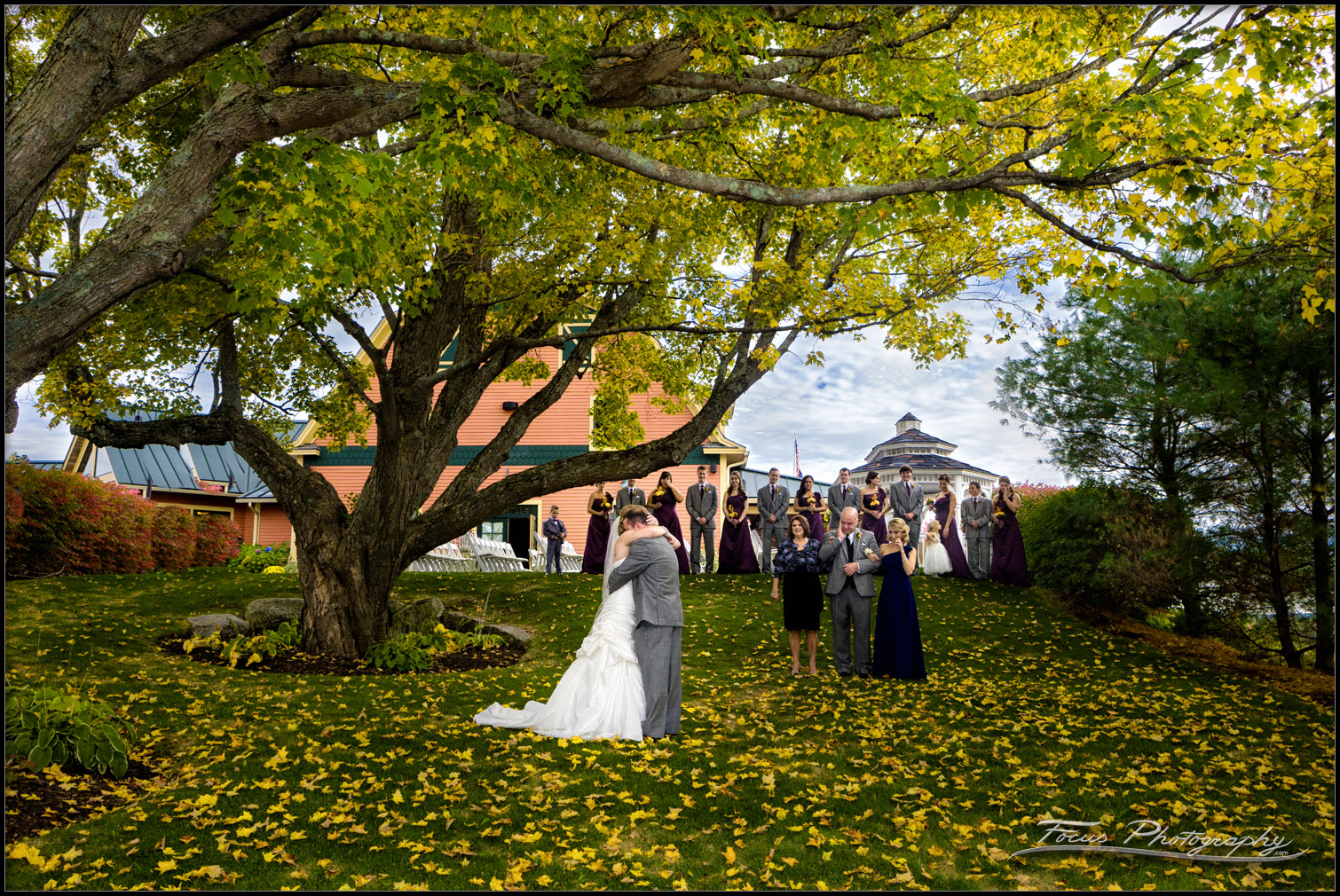 First Glance at Red Barn wedding