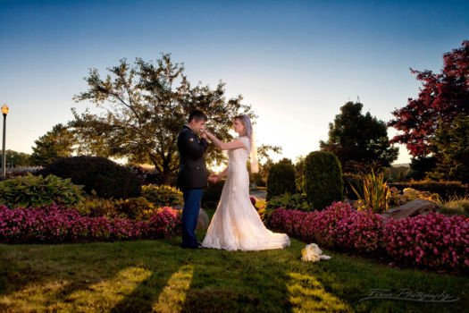 wedding portraits of bride and groom at Samoset Resort Wedding