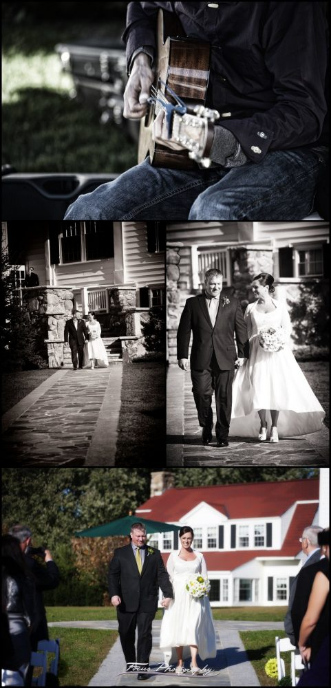 Colony Hotel wedding ceremony by Kennebunkport, Maine wedding photographers Focus Photography