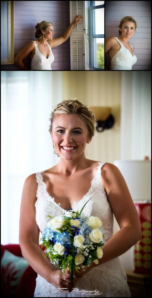 Bridal portrait at Grey Havens Inn wedding in Georgetown Maine