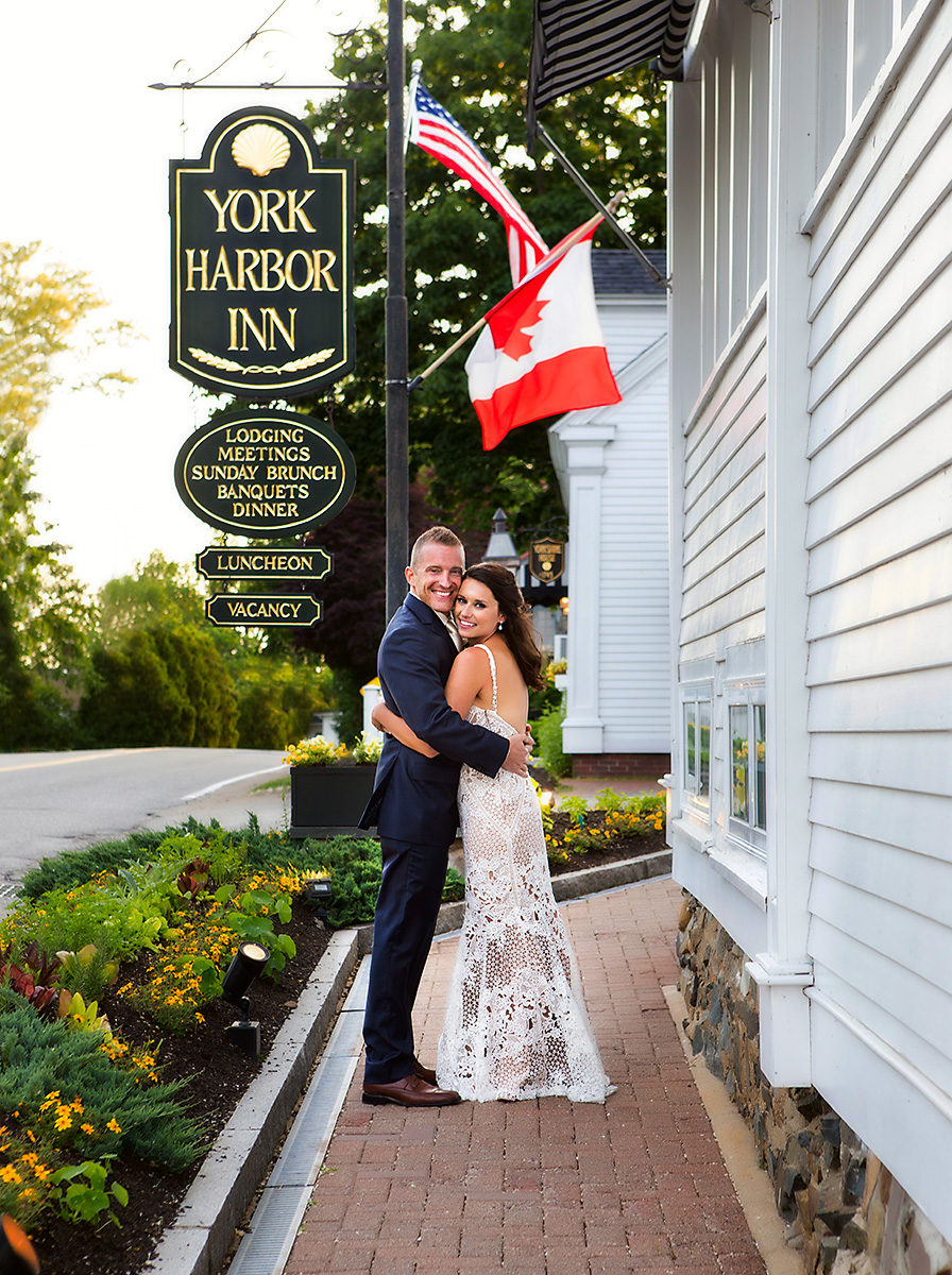 Darin and Jessica at the York Harbor Inn