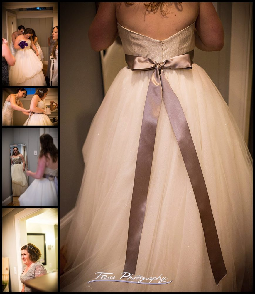 Maine wedding in Falmouth, bride's dress photo