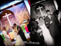 pronounced husband and wife in church ceremony