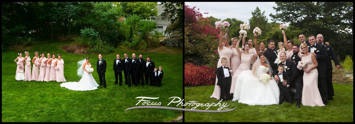 bridal party  at Wentworth by the Sea wedding in New Castle, New Hampshire