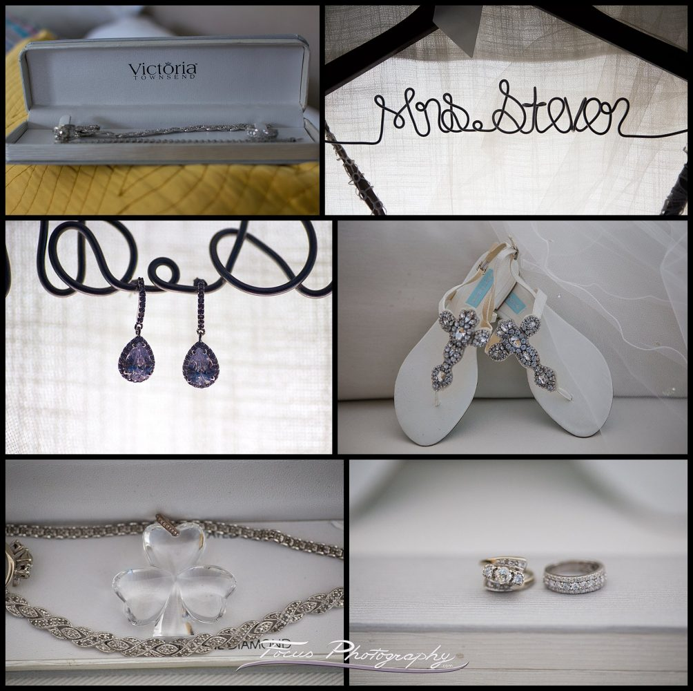 Jewelry and details at York Harbor Inn wedding in Maine