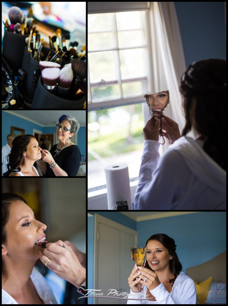 Make Up by Joya Beauty  at York Harbor Inn wedding in Maine