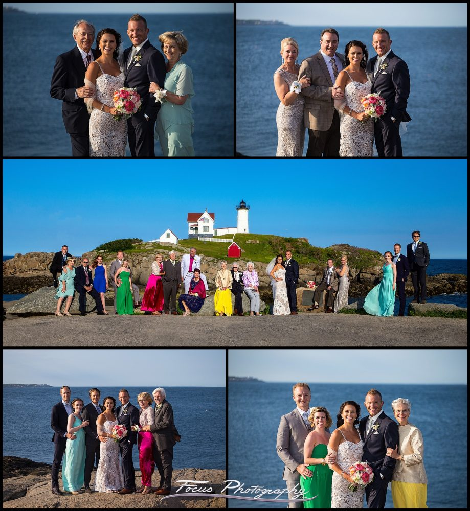 group event photography at Nubble Lighthouse