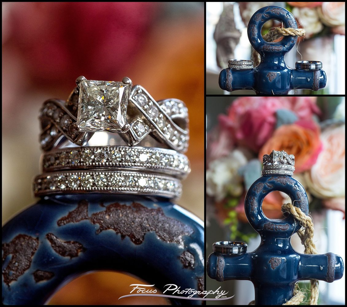 Wedding ring detail shots by Maine wedding photographer William von Wenzel