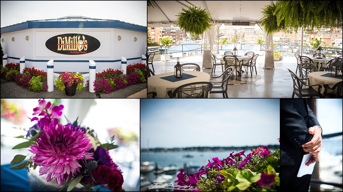 wedding at DiMillos floating restaurant in Portland, Maine