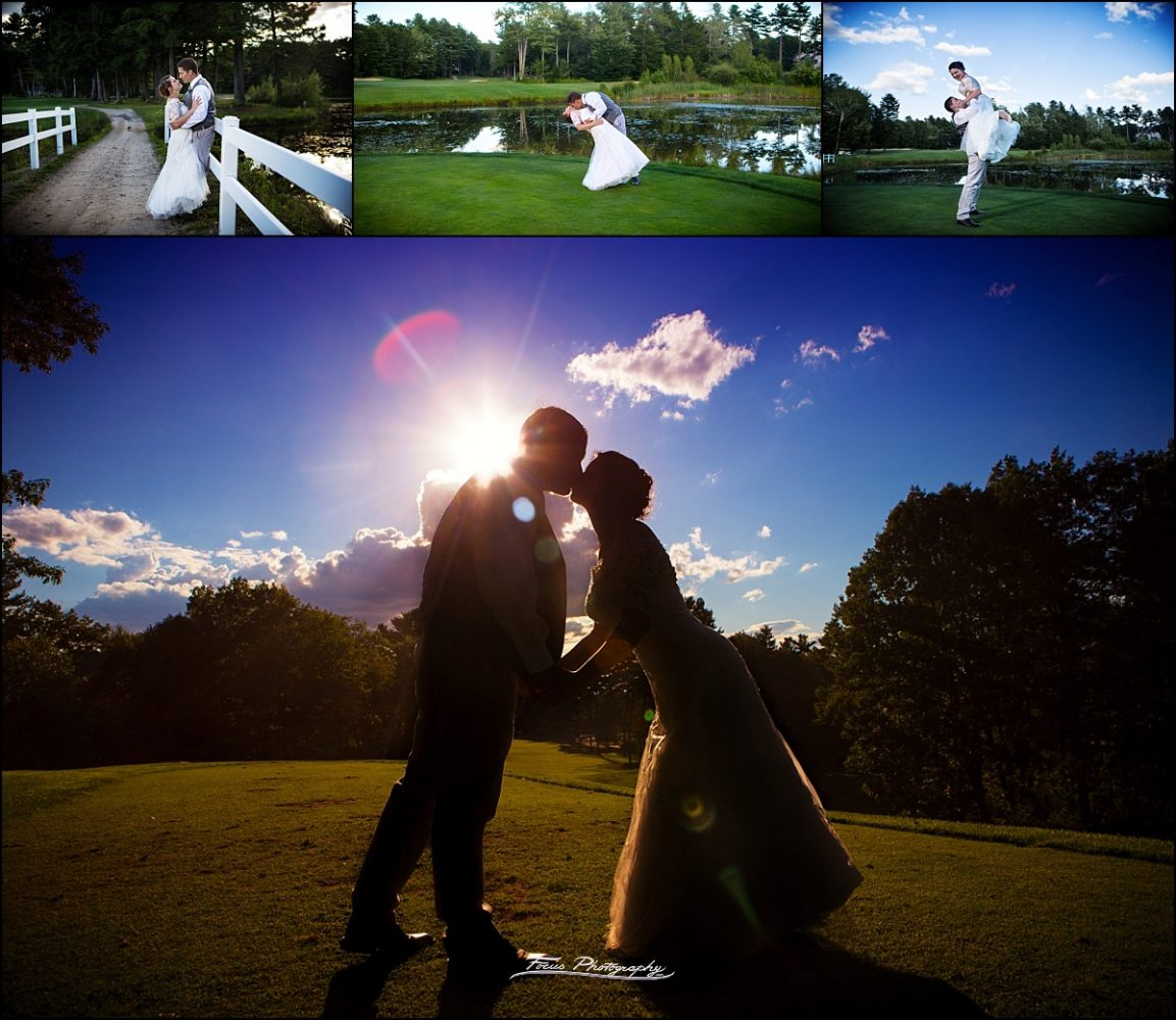 on the fairways  at Dunegrass Golf Club Wedding in Old Orchard Beach, Maine