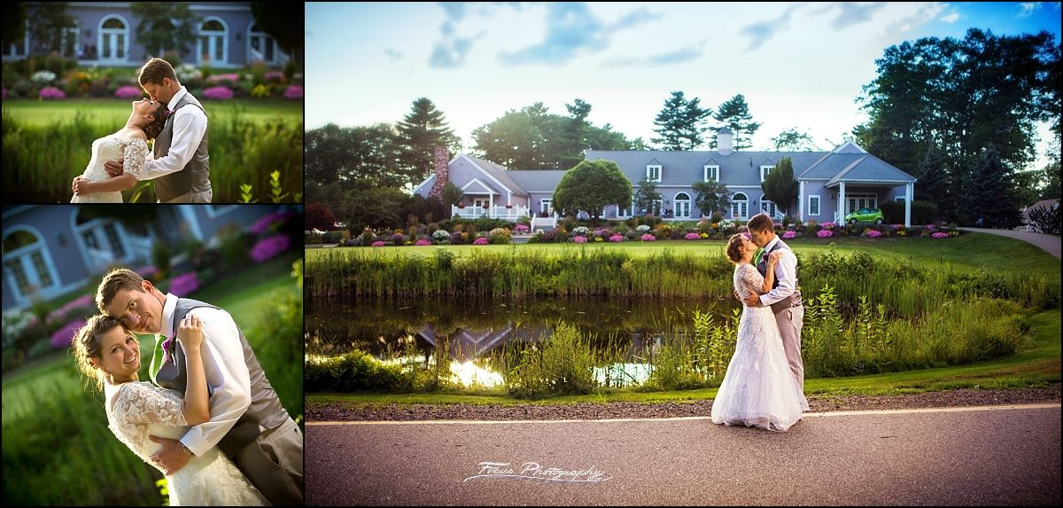 bride and groom  at Dunegrass Golf Club Wedding in Old Orchard Beach, Maine