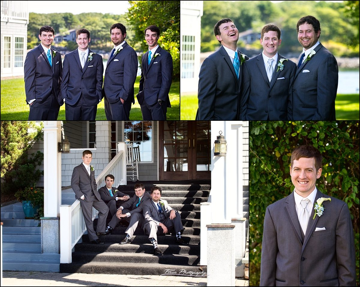 groomsmen at Stage Neck Inn wedding in York Maine