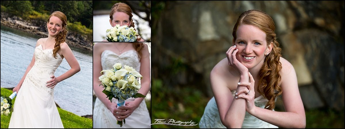 bridal portraits by Stage Neck Inn wedding photographers Focus Photography in York Maine