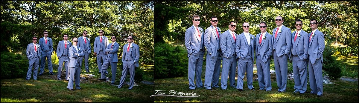 Groom and men at Wentworth by the Sea wedding in New Castle, NH