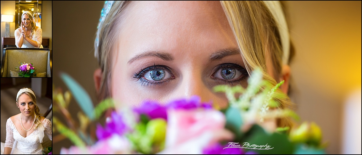 bridal portraits at Westin Portland Harborside before wedding