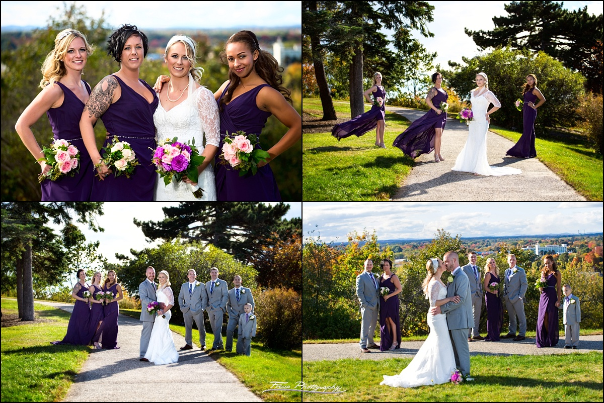 Bride and bridesmaids at Western Prom in  Portland, Maine wedding