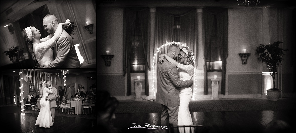 first dance for bride and groom at Portland Club wedding in Portland, ME