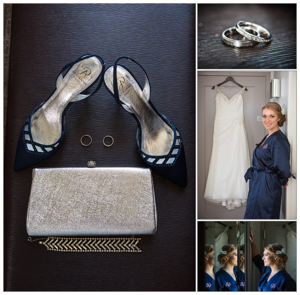 bride getting ready at Westin - wedding pictures - portland, maine